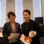 フジテレビのニュースキャスター安藤優子さんも集会に参加されていました。