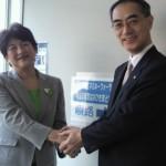 基調講演は城南信用金庫理事長の吉原毅さん。励ましていただきました。