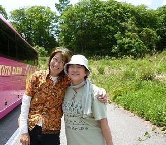 久し振りに会った奈良由貴さん(元江戸川・生活者ネットワーク区議会議員。現足元から地球の温暖化を考えるネットワーク代表)