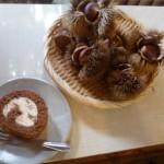 ベリカフェで食べた栗の渋皮煮ロールケーキ